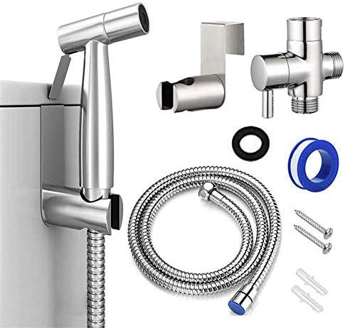 ハンドヘルドビデトイレスプレー、ステンレス鋼の浴室ビデスプレーセット、ベビー布おむつスプレーは、インストールするにはトイレットペーパー、簡単の使用を減らします