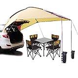 Playdo Waterproof Teardrop Trailer Awning Portable Car SUV Awning Tent Sun Shelter Canopy