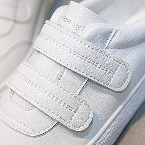 Blancos estupendo Harajuku Zapatos Size del UK6 CN39 Fuego Zapatos de Salvajes EU39 Color de Femeninos Zapatos Lona FH White BFwf5Hq5