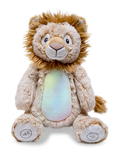 Cuddle Barn Peaceful Jungle Collection 10 Soft Plush Animal with Volume Control, Lights Up and Plays Soothing Nature Music (Lion)