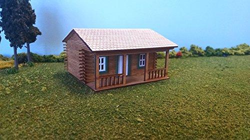 Ho Log - Train Time Laser HO Scale Larry's Log Cabin Kit