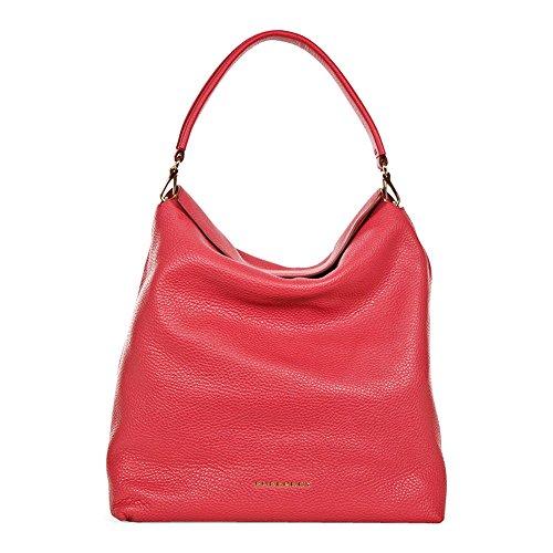 Burberry Medium Leather Hobo Bag - Pink - Burberry Online Shop