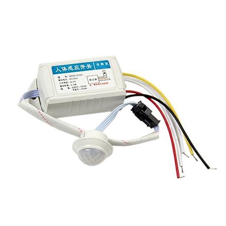 TOOGOO(R) Interruptor de deteccion de movimiento de lampara luz inteligente sensor del cuerpo