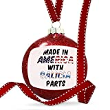 Christmas Decoration Made in America with Parts from Galicia Ornament