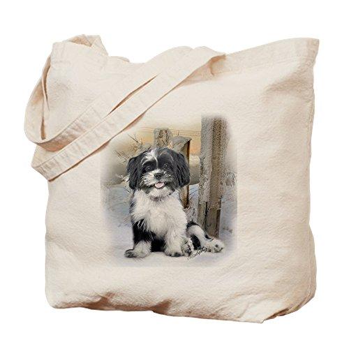 Shih Tzu Tote (CafePress - Shih Tzu Winter Scene - Natural Canvas Tote Bag, Cloth Shopping Bag)