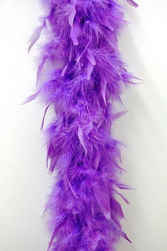 80 Gram Chandelle Feather Boa - LAVENDER 2 Yards - Lavender Boa