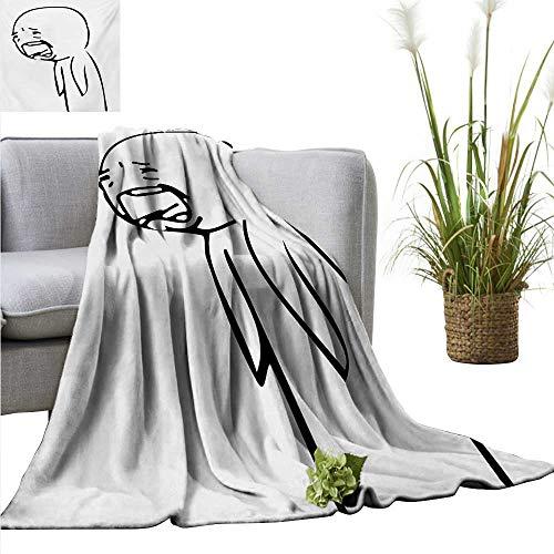(Humor Warm Blanket Sad Guy Upset Crying Popular Rage Comic Generator Online Emoji Comedy Print Sofa Chair 71