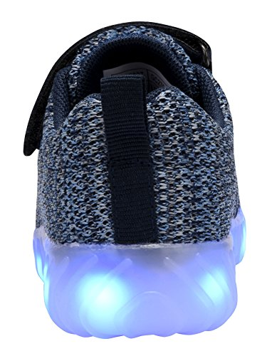 COODO LED leuchten Schuhe für Frauen Kinder Mädchen blinkende Glitter Turnschuhe (Kleinkind / Kind / Frauen) 2-blau / Navy