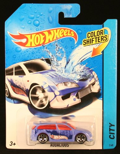 AUDACIOUS * COLOR SHIFTERS * 2014 Hot Wheels City Series 1:64 Scale Vehicle #2/48 (Color Changing Cars Hotwheels compare prices)