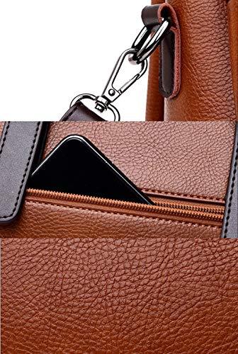 Manico Donna 19cm Designer Borse Borse 11 Pink Top 28 M3m In Spalla brown Pelle Borsa Tote RwxHq5z