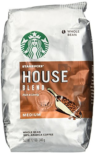Starbucks Whole Bean Coffee House Blend, 12-Ounce