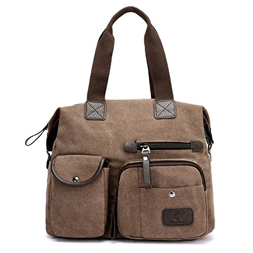 Bolsa de lkklily Messenger match all marrón Retro azul Messenger Bag hombro shoulder Fashion lona gran capacidad grIAI0tn
