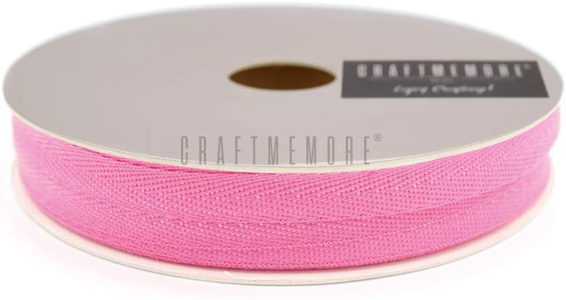 CRAFTMEMORE 3//4 Inch Twill Tape Fabric Ribbons Webbing Herringbone Twill Bias Binding Tape for Clothes Sewing Craft Trim Lace 36 Yards MP14 Amaranth Pink