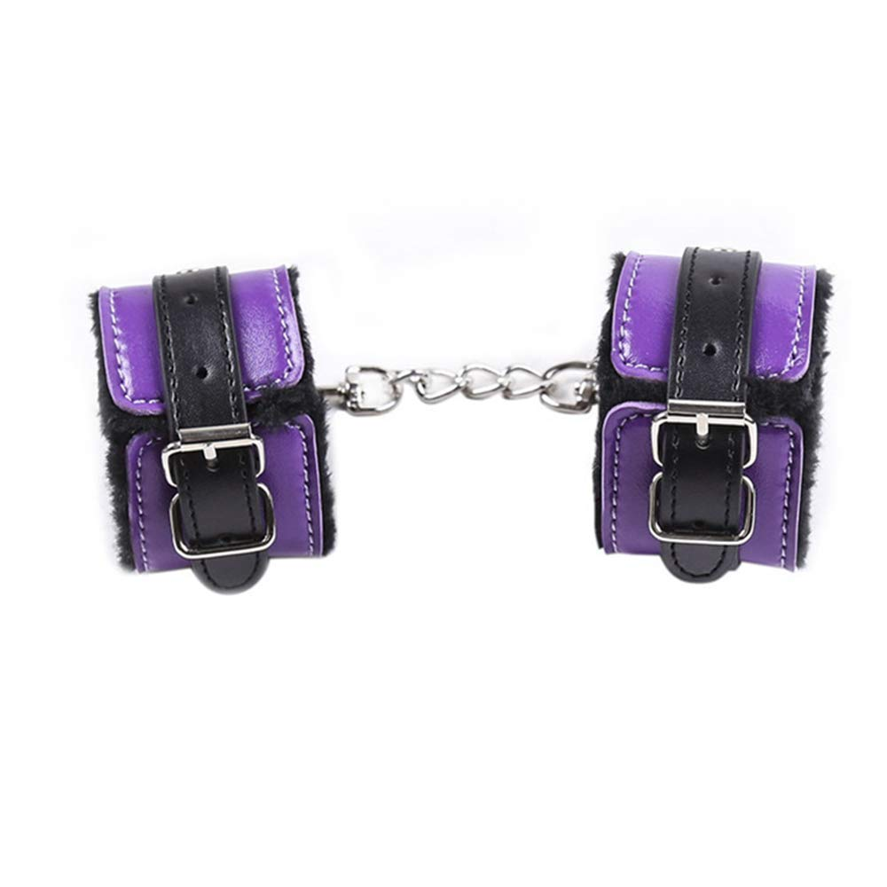 dengchengbaby Toy Handcuffs Bundled with Plush Hands and feet with Chain Connection (Handcuffs) by dengchengbaby