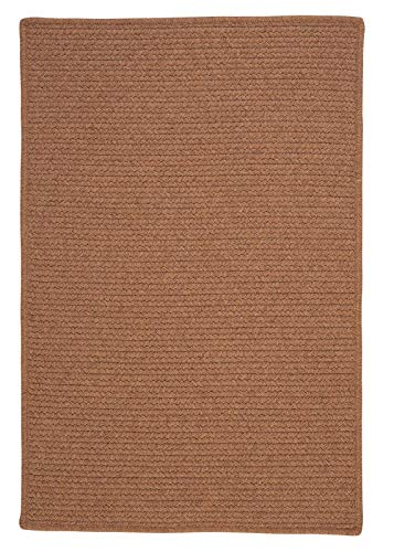 (Colonial Mills Westminster Rectangular 8' x 11' Braided Modern Area Rug In Brown Solid)