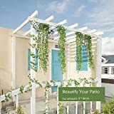 Naidiler 84 Ft 12 Strands Fake Ivy Leaves