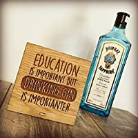 Education is Important Drinking Gin is Importanter Unique Gift for Gin Lover