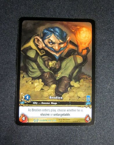 ((8) World of Warcraft WoW TCG Brodien Illidan Extended Art Ally Uncommon Cards)