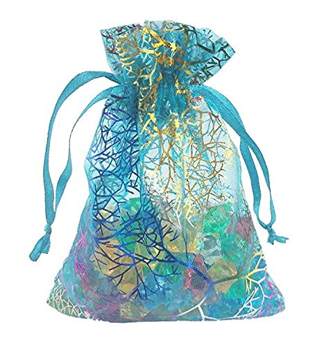 Organza Drawstring Bags Jewelry Pouches Coralline Pattern Coralline Pattern Candy Chocolate Party Christmas Wedding Favor Gift Mydio 5 x 7 inches Tulle Bags 100Pcs,