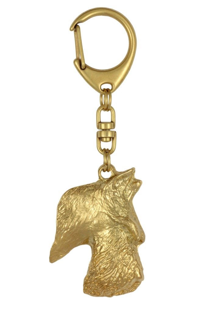 Scottish Terrier (Long Muzzle), Millesimal Fineness 999, Dog Keyring, Keychain, Limited Edition, Artdog