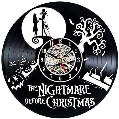 Vinyl Record Clock Nightmare Before Christmas Wall Decoration