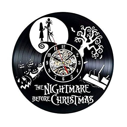 vinyl record clock nightmare before christmas wall dcor