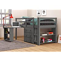 DONCO 760-Tdg Kids Study Loft, Twin, Dark Grey