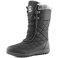 Women's DailyShoes Comfort Round Toe Mid Calf Flat Ankle High Eskimo Winter Fur Snow Boots