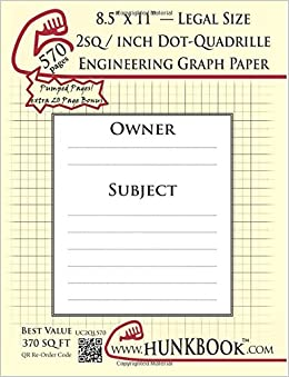 engineering graph paper 570pages cream 2sq inch 1 2 dot