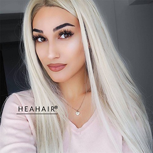 [Heahair Fashion Natural Hairline Colorful Synthetic Lace Front Wigs For Women (Natural Blonde)] (Galadriel Costume Uk)