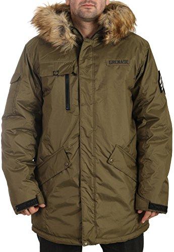Grenade Parka Snowboard Jacket Mens Sz M Olive