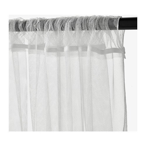 IKEA LILL Lace Curtains 5 Pair 10 Panels White Color Length: 98