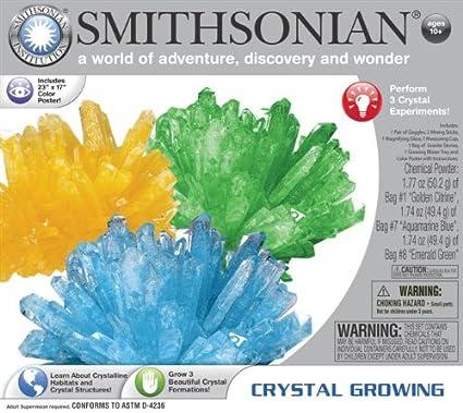 Amazon Smithsonian Crystal Growing Gem Like Toys Games
