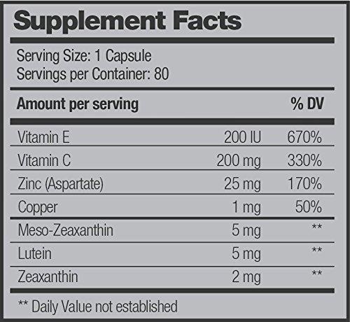 Lutein Optical Vision Multivitamin Advanced Eye Formula Maintains Visual Function amp Macular Health Powerful Antioxidants 60 Capsules Discount