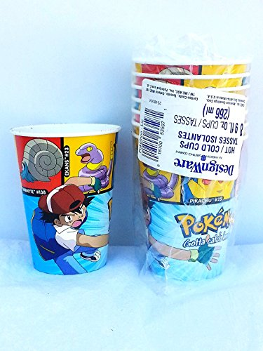 Pokemon Lic Pikachu & Friends 9oz Paper Cups (8 count) by Designware