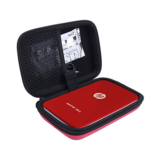 Hard Case for HP Sprocket Plus Instant Photo Printer fits Large 2.3x3.4 Sticky Paper by Aenllosi (Red)