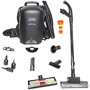 Atrix VACBP1 Hepa Backpack Vacuum - Corded