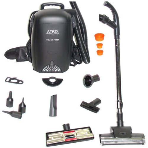 Atrix VACBP1 HEPA Backpack Vacuum - Corded - Backpack Vacuum Commercial Hepa
