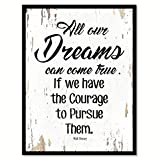 """apartment living room decorating ideas SpotColorArt All Our Dreams Can Come True If We Handcrafted Canvas Print, 7"""" x 9"""", White"""