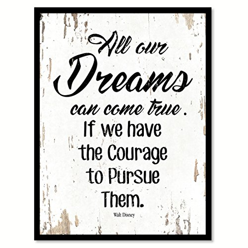 """SpotColorArt All Our Dreams Can Come True If We Handcrafted Canvas Print, 7"""" x 9"""", White"""