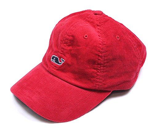 Vineyard Vines Mens Corduroy Whale Baseball Hat Red Nun Blue Ball Cap