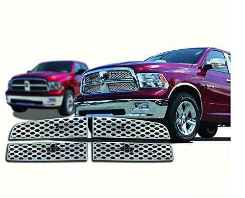 New Chrome Grille Cover Insert Overlay Fits: Dodge Ram 1500 ST, SLT, TRX, Laramie, Sport 2009 thru 2012