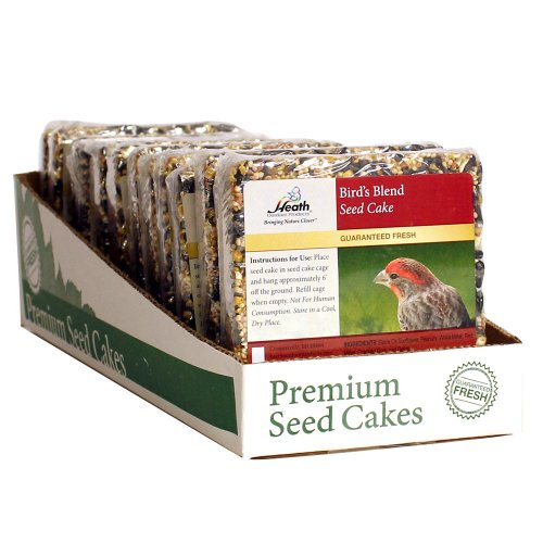Heath Outdoor Products SC-21 7-Ounce Birds Blend Seed Cake, 12-Pack
