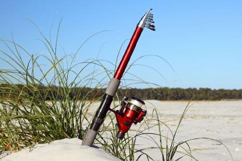 11′ 7″ Telescoping Fiberglass Rod and Reel Combo (3.6m), Outdoor Stuffs