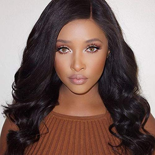 2af013302 U Part Wig Human Hair 150% Density, MS.ILSA Body Wave Human Hair