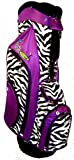 Birdie Babe Womens Golf Bag Purple Zebra Ladies Hybrid Golf Bag