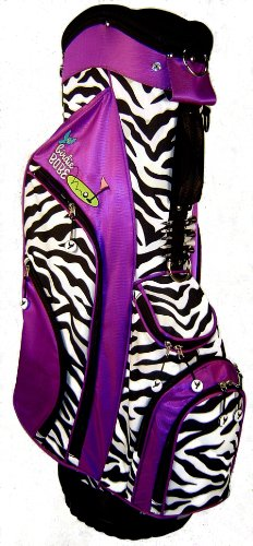 Birdie Babe Womens Golf Bag Purple Zebra Ladies Hybrid Golf Bag