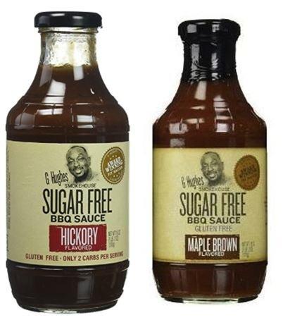 G Hughes Smokehouse Sugar Free BBQ Sauce, Hickory, 18 & SF M