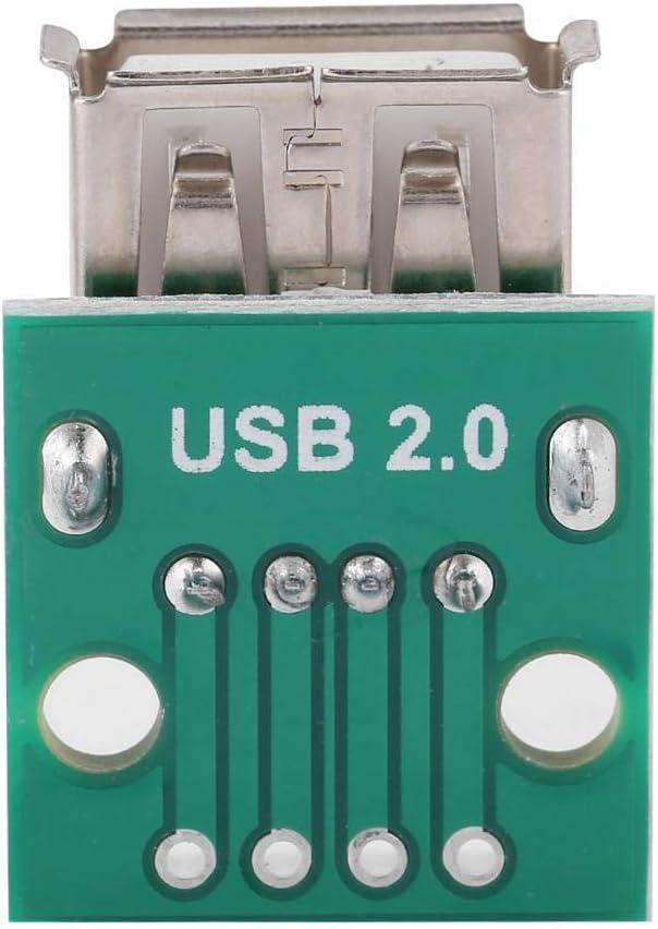 Tangxi 10Pcs//lot USB Type A Female Socket Breakout Board 2.54mm Pitch Adapter Connector DIP Plug Connector Jack Socket Connector PBC Mounting Assortment Set