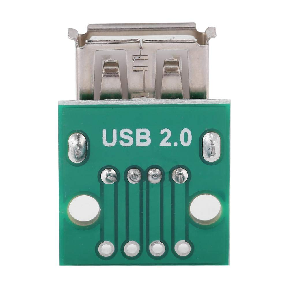 Akozon 10Pcs USB Type A Female Socket Breakout Board 2.54mm Pitch Adapter Connector DIP for DIY USB Power Supply//breadboard Design